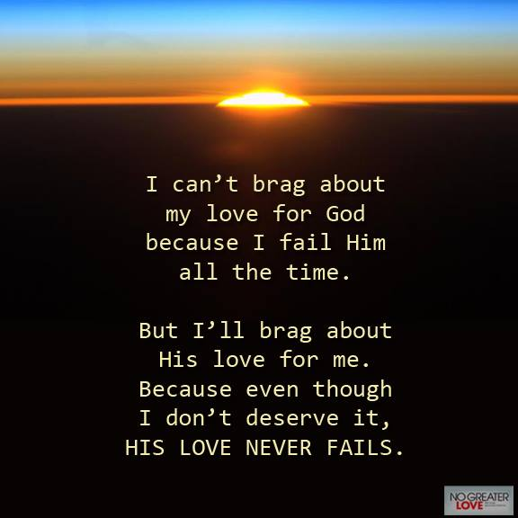 A Love That Is Real & Forever…Jesus.