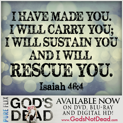 …AND I WILL RESCUE YOU.