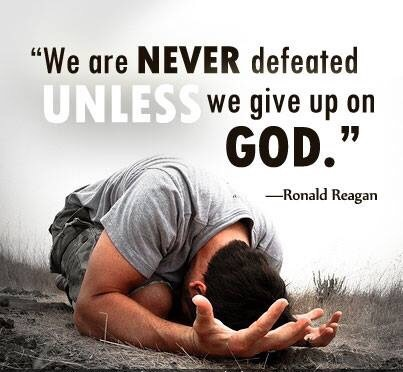 Never Give Up…Says Ronald Reagan